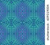 abstract geometric seamless... | Shutterstock . vector #609319004