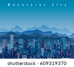 abstract city  cityscape... | Shutterstock .eps vector #609319370
