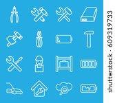 maintenance icons set. set of... | Shutterstock .eps vector #609319733
