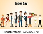 people of different occupations.... | Shutterstock .eps vector #609322670