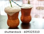 lassi is a popular traditional... | Shutterstock . vector #609325310