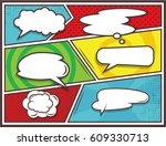 bubbles for comics vector... | Shutterstock .eps vector #609330713