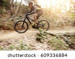 side view of young cyclist...   Shutterstock . vector #609336884