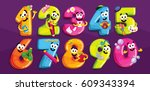 cartoon figures. smiling... | Shutterstock .eps vector #609343394