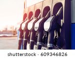 gas station. gas station in the ... | Shutterstock . vector #609346826