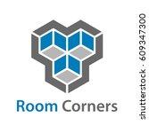 3d isometric empty room corners ... | Shutterstock .eps vector #609347300