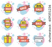 set of vector sale icon with...   Shutterstock .eps vector #609351236
