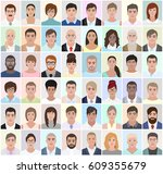 portraits of different people ... | Shutterstock .eps vector #609355679