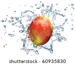 mango in spray of water. juicy... | Shutterstock . vector #60935830