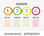 business infographics. timeline ... | Shutterstock .eps vector #609360524