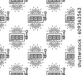 seamless vector pattern with a... | Shutterstock .eps vector #609363563