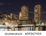 city view of boston ... | Shutterstock . vector #609367454