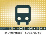 bus icon vector illustration...   Shutterstock .eps vector #609370769