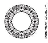 ethnic mandala ornament.... | Shutterstock .eps vector #609387374