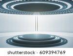 futuristic teleport station in...   Shutterstock . vector #609394769