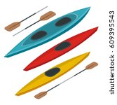 rafting and kayaking icons... | Shutterstock .eps vector #609395543