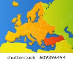 europe map with national... | Shutterstock .eps vector #609396494