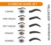 eyebrow shaping for woman face... | Shutterstock .eps vector #609397784