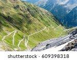 alps mountain road passo dello...   Shutterstock . vector #609398318