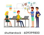business meeting concept.... | Shutterstock .eps vector #609399800