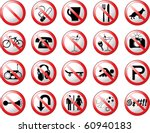 Prohibition Symbols 2