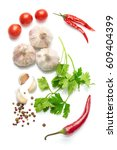 mediterranean food and drink... | Shutterstock . vector #609404399