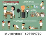 health concept infographics of... | Shutterstock .eps vector #609404780