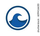 ocean logo vector  | Shutterstock .eps vector #609416630