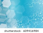 structure molecule and... | Shutterstock .eps vector #609416984