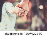 child injured holding the hand... | Shutterstock . vector #609422390