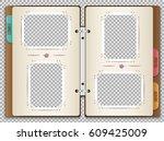 illustration of a photo album... | Shutterstock .eps vector #609425009