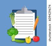 vegan diet plan checklist.... | Shutterstock .eps vector #609429674