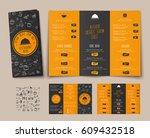 design of a folding menu for...   Shutterstock .eps vector #609432518