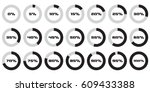 set of circle percentage... | Shutterstock .eps vector #609433388
