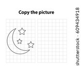 moon    copy the picture  game... | Shutterstock .eps vector #609434918