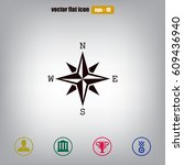 pictograph of compass | Shutterstock .eps vector #609436940