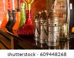 exotic turkish hookah | Shutterstock . vector #609448268