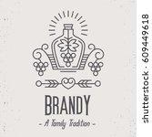 vintage brandy label design...   Shutterstock .eps vector #609449618