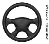 3d rendering black steering... | Shutterstock . vector #609455126