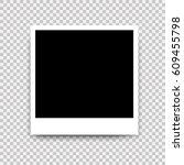 photo frame. white border on a... | Shutterstock . vector #609455798