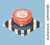 3d emergency start stop red... | Shutterstock .eps vector #609456488