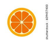 orange slice vector... | Shutterstock .eps vector #609457400