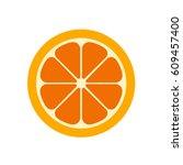 orange slice vector... | Shutterstock .eps vector #609457400