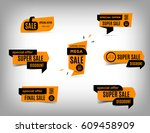 sale banner collection ... | Shutterstock .eps vector #609458909