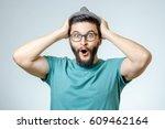 Man With Shocked  Amazed...