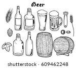 transparent bottle  glass and... | Shutterstock .eps vector #609462248