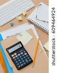 time to fill individual income... | Shutterstock . vector #609464924