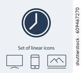 clock icon. one of set web icons