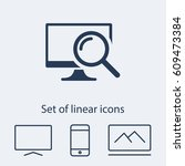 monitoring  icon. one of set...