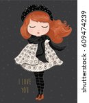 girl vector design. | Shutterstock .eps vector #609474239